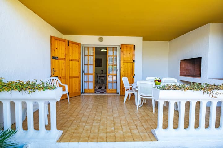 Villa on 2 floor, 3 bedrooms, 8 beds and BBQ