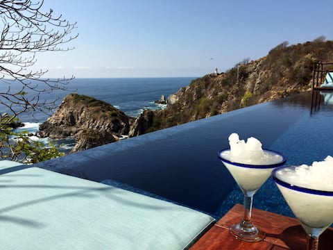 Palapa Villa - Haus mit Meerblick und privatem Pool