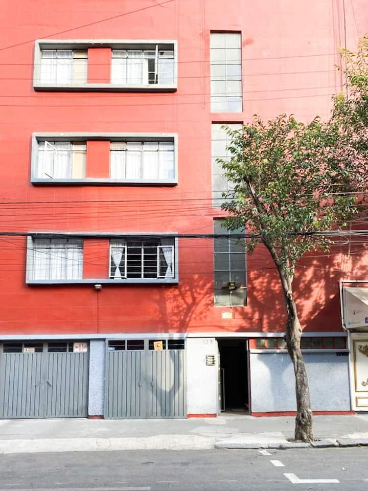 Habitación para una persona en Roma Norte - H2