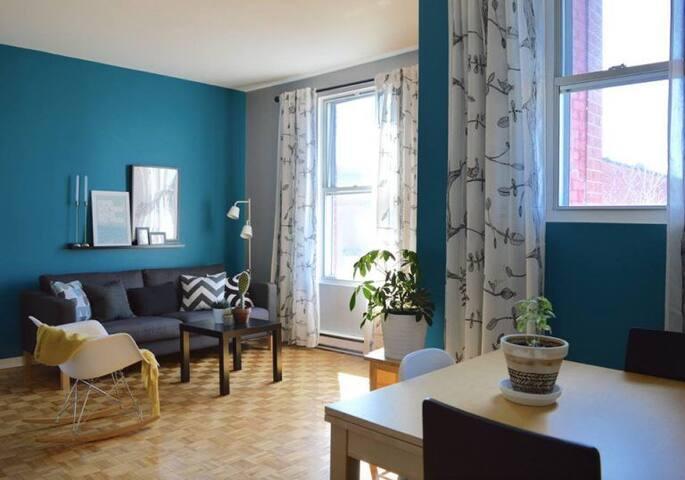 Grand 5 et demi ensoleillé idéal pour familles - Montréal - Appartement