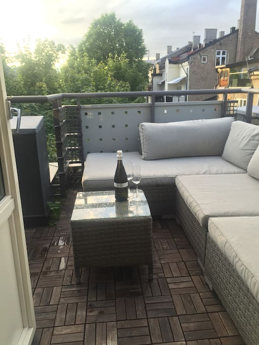 Roof terrace for the warm evenings