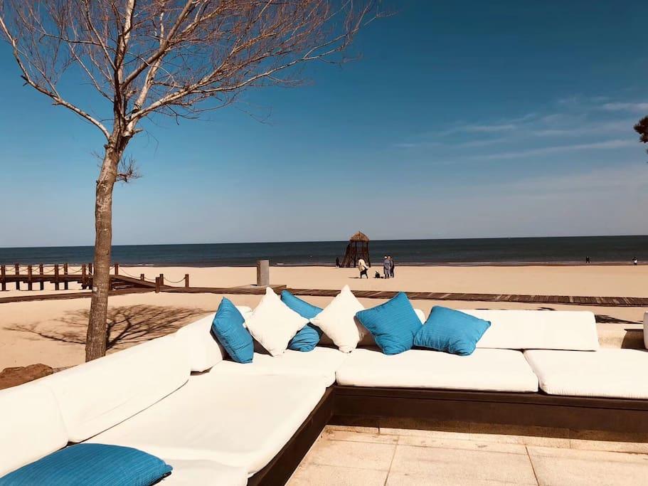 海滩休闲区域