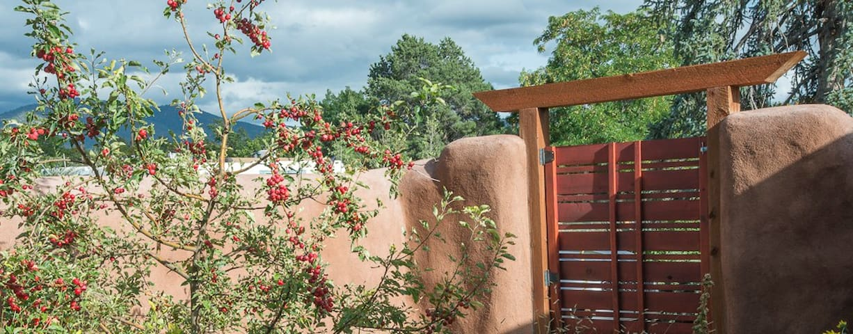 Light filled, private Santa Fe gem