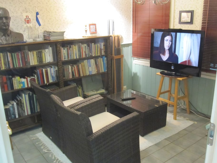 The small library room with tv is also just for our visitors.