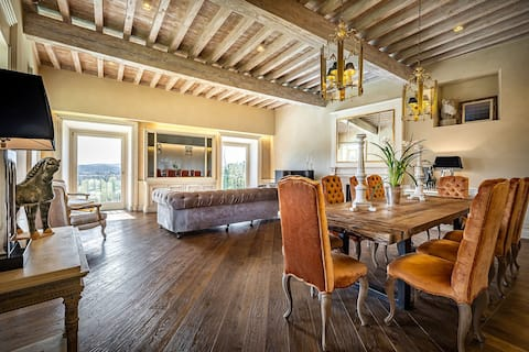 YiD Villa Tolomei Gucci - apt2 with swimmingpoil