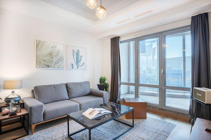 Sharp 1BR at Maslak 1453 with Sea View