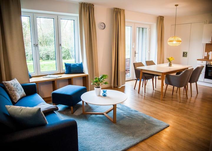 """""""Großer Haussee"""" Souterrain Wohnung mit Terrasse"""