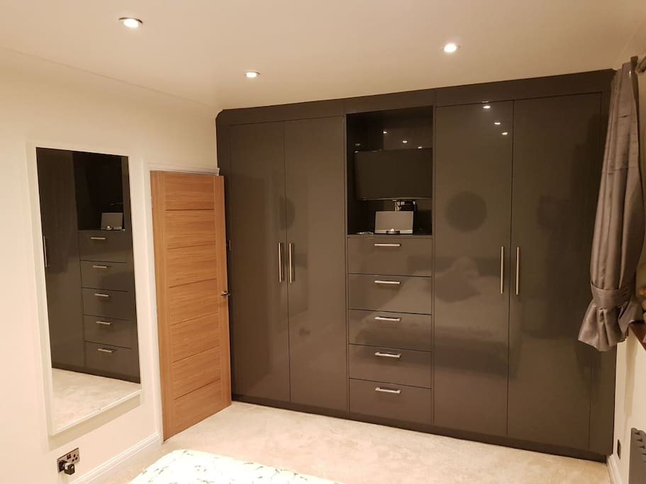 Wardrobe space and TV