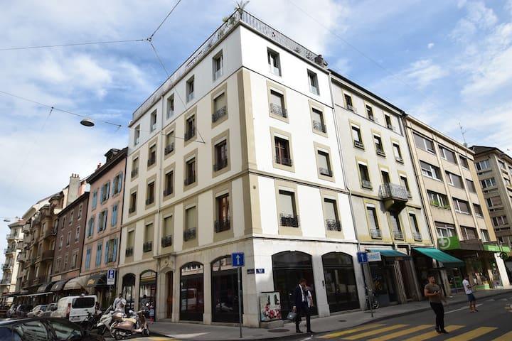 Une chambre spacieuse 3 personnes - Ginebra - Departamento