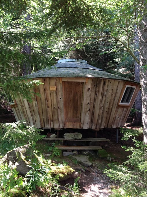 This is the guest yurt, Tagdumbash.