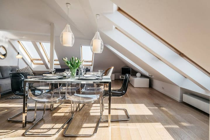 Spectacular Old Town view penthouse with rooftop terrace
