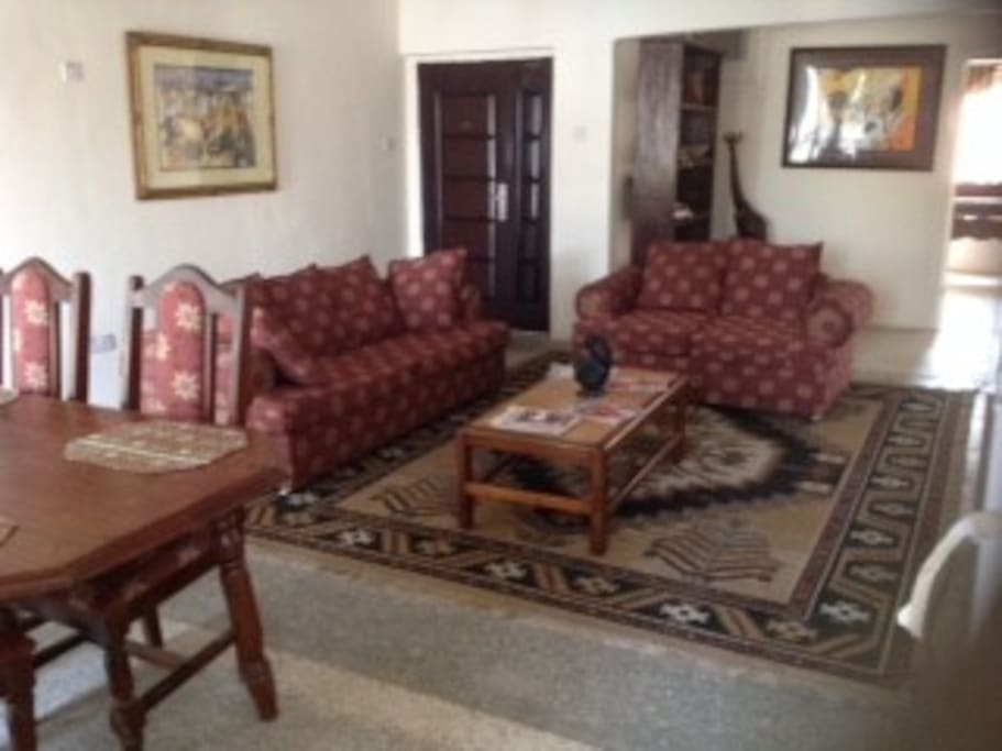Comfortable hall with dinning area fully furnished