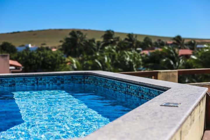 Meu Lugar- 3-Suíte com AC e piscina