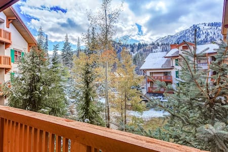 NEW LISTING! Ski-in/ski-out condo w/ a shared pool, hot tub, & amazing ski views
