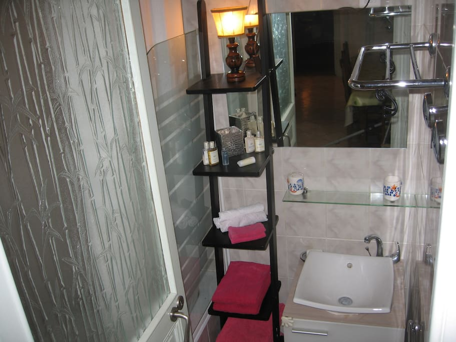 Salle de bain avec douche (en commun)