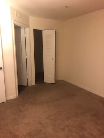 Empty private room with a private bathroom