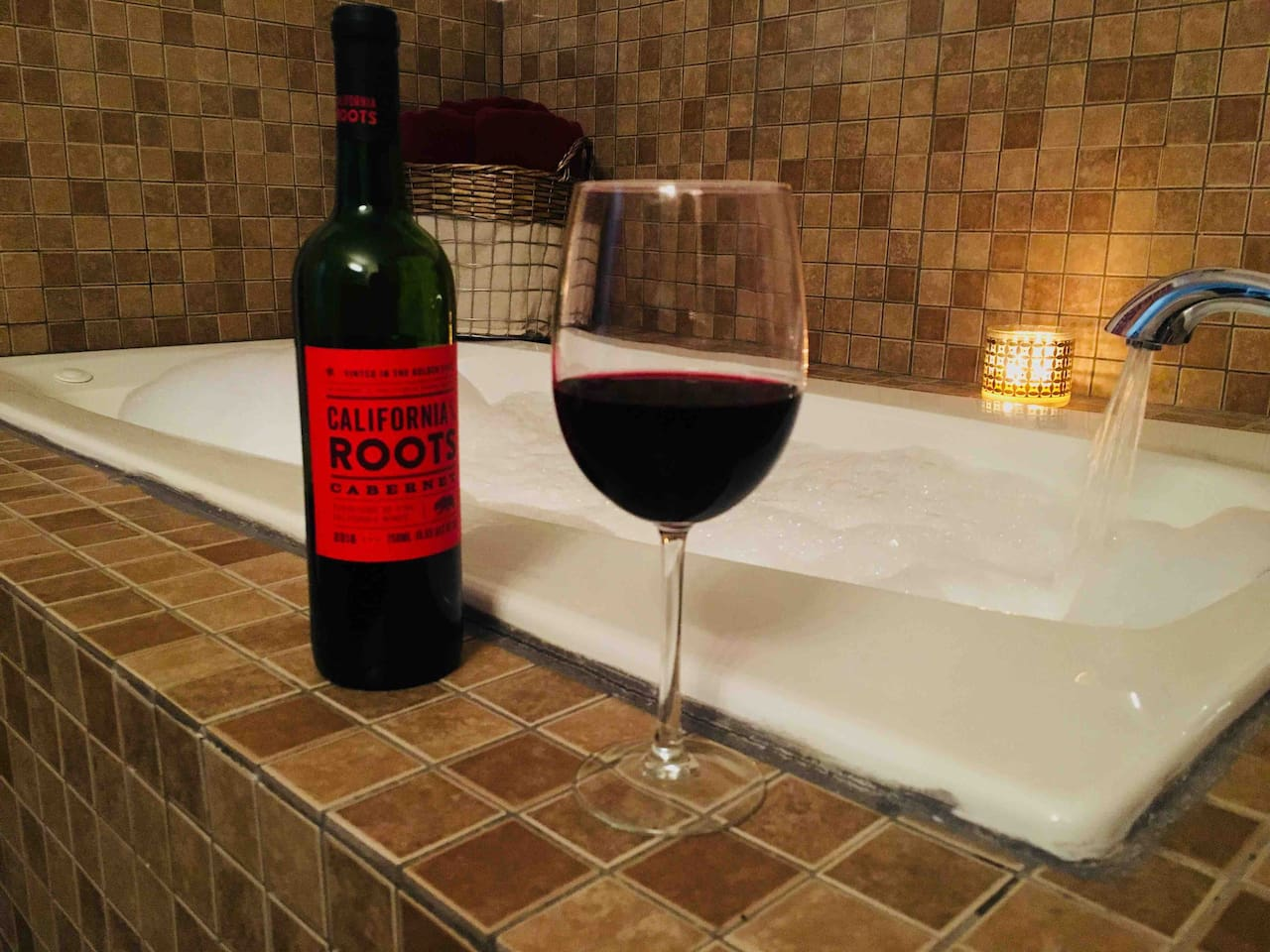 Bath time + wine = heaven
