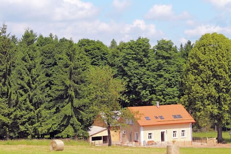 Particularly beautiful, renovated house with stunning views on the edge of the Bohemian Forest