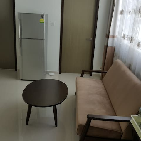Guests can use shared living area outside room