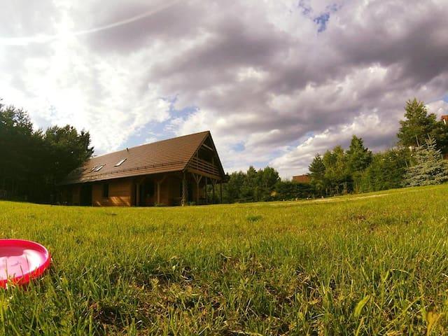 DREWNIANY DOM nad Jeziorem Głębokim Kaszuby - Gmina Świeszyno - Apartment