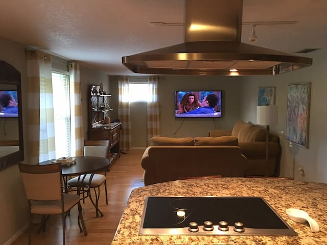 Open kitchen to the living room