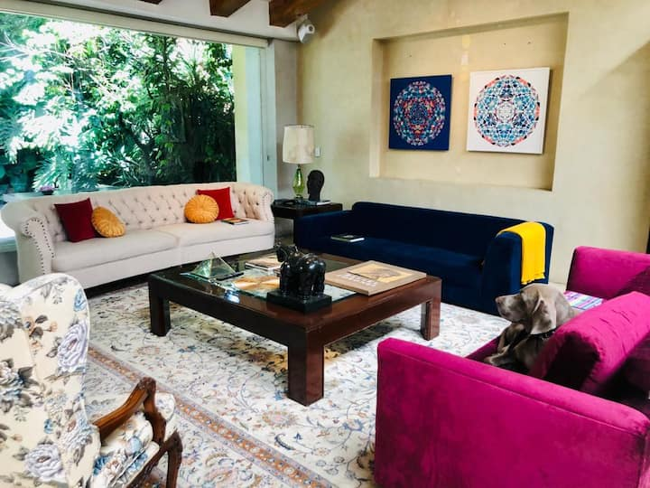 Luxury Villa, Coyoacan Center and Viveros Park