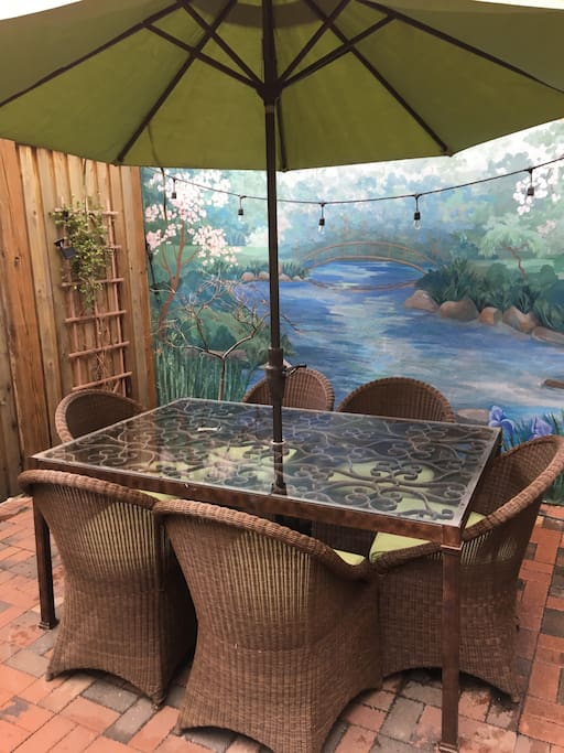 Relax in our back patio