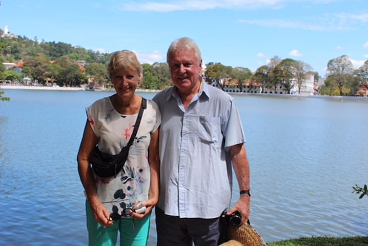 Your hosts, Roger & Sheila, looking forward to meeting you soon!