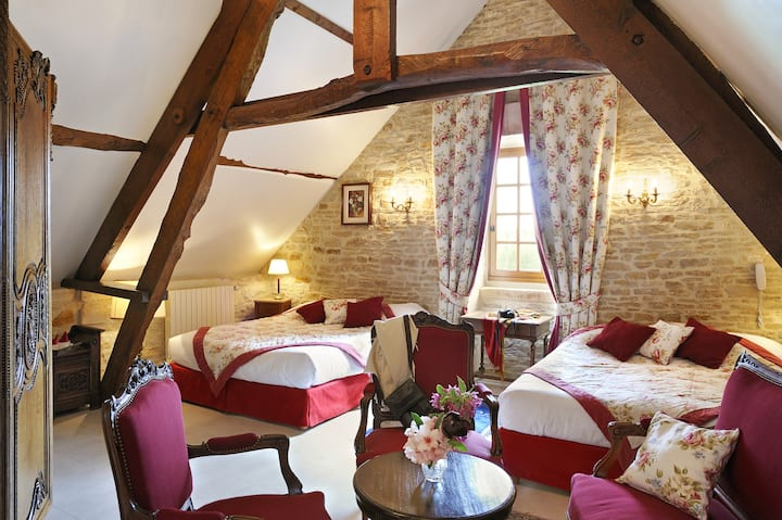 Manoir de Mathan Chambre Junior Suite Quadruple