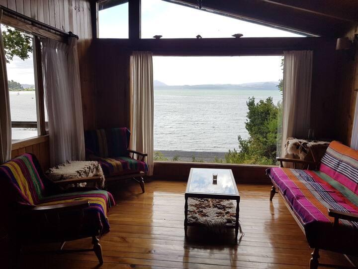 Acogedora casa Orilla Lago camino Villarrica Pucon