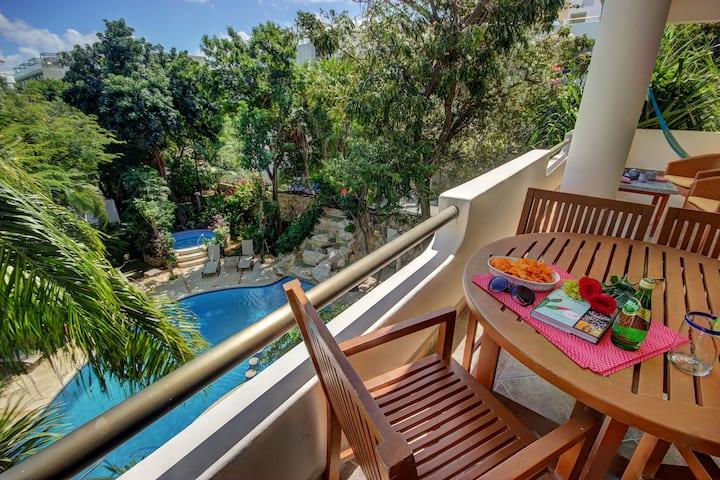 3BRoom apartment,garden view.Beach.Riviera Maya