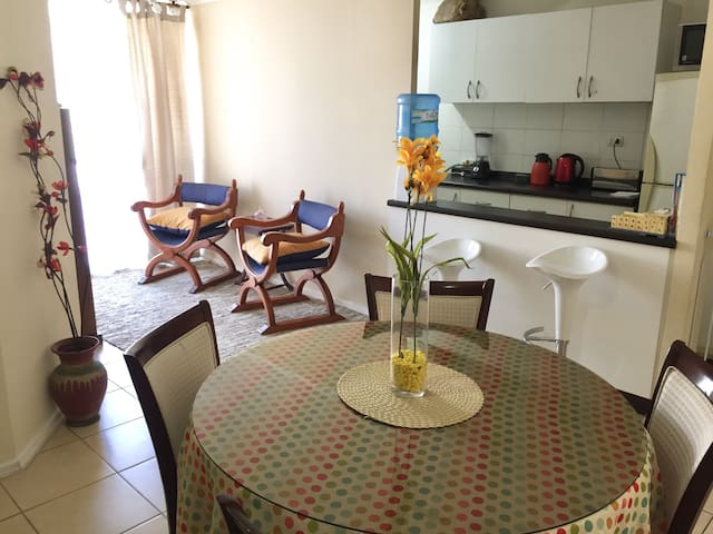 Equipped apartment+wifi+children's space+parking!
