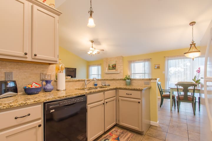 Kitchen open to the dinning and living room.