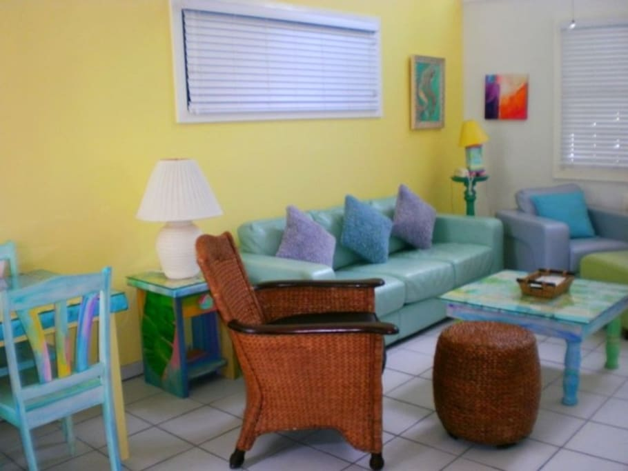 Colorful furnishings in Island Style Key West