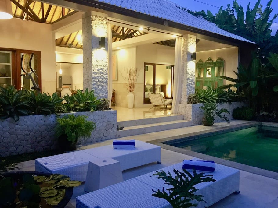 pool area and main house/villa