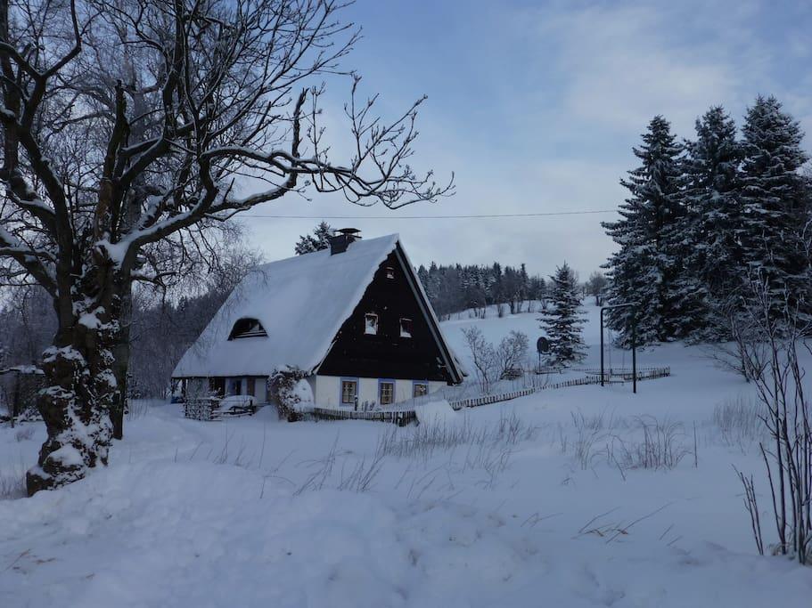 Von Außen im Winter