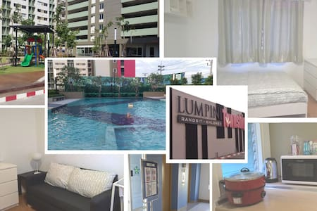 Appartment near Bangkok Don Muang Airport (white)