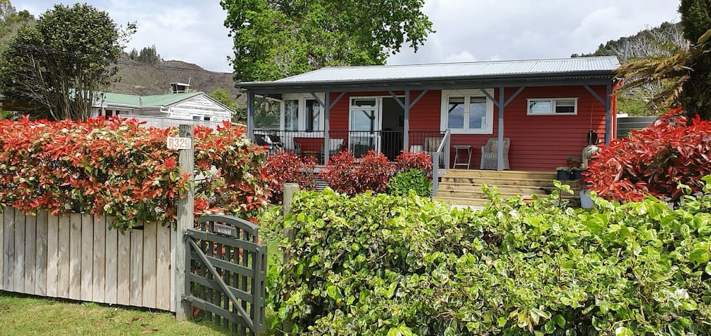 The Red Bach across from Lake Rotoma.  Sleeps 3