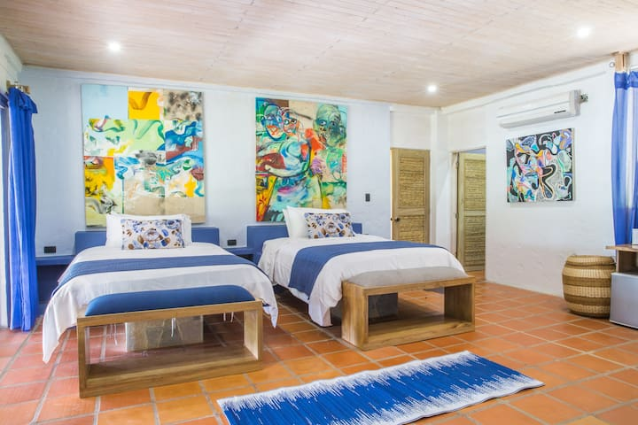 Blue Apple Beach House - Lulo Island Hotel Room - Cartagena - Casa