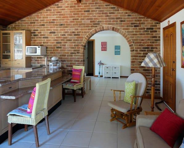 Private ground floor studio with pool