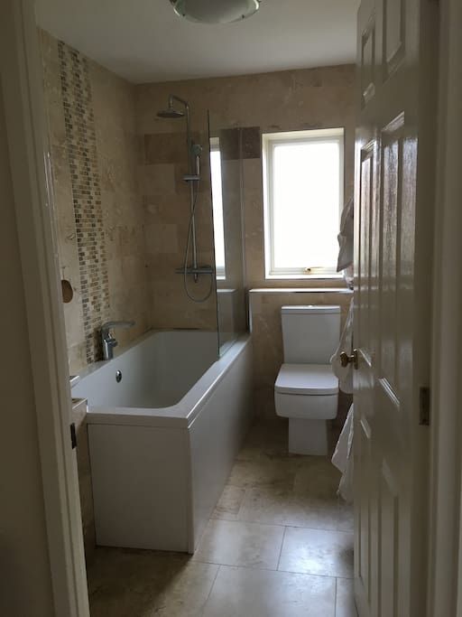The bathroom with shower
