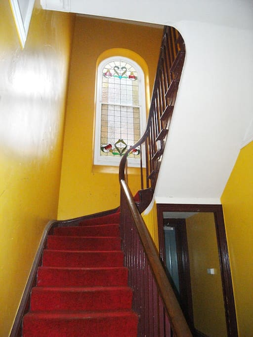 Up the Main stair to your room