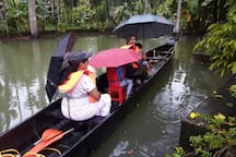 Complimentary Breakfast & Free Canoe Boating @ Kuttickattil Gardens Home Stay , Kottayam. Book Your Rooms to Get a Free Boating.