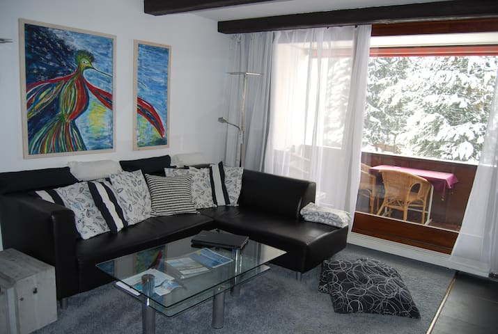 Modern apt, sleeps 4, 2 bath, pool, close to lifts - Laax - Service appartement