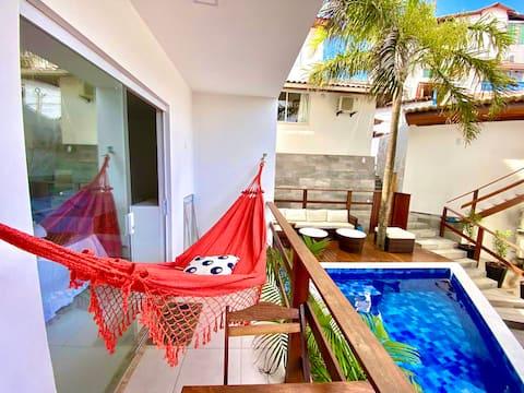 Flats MorrodeSP-Studio- 40m da Praia & Vila