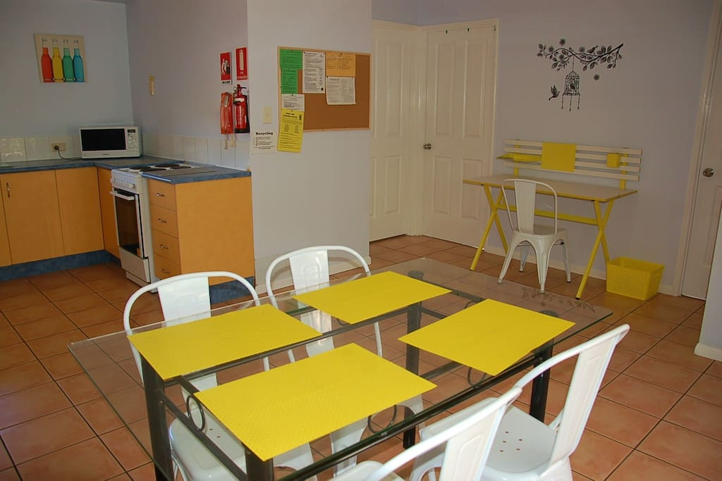 Dining area to enjoy lovely meals with your friends