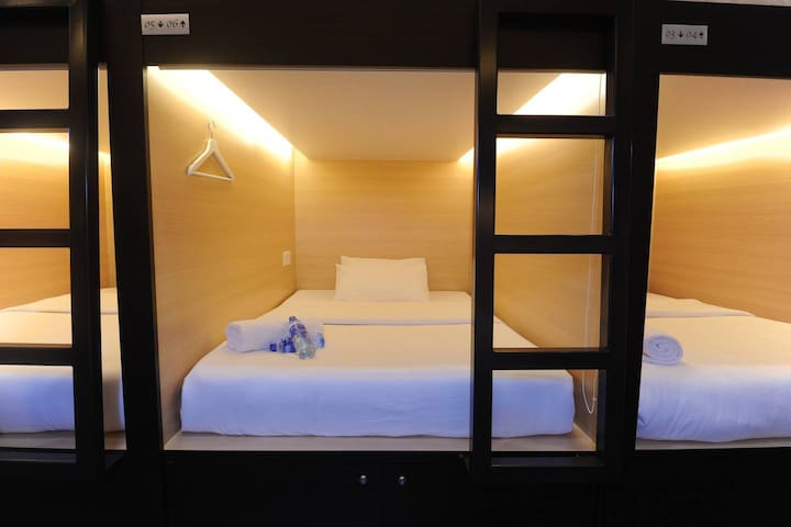 Single Capsule bed in Mix Dormitory Room