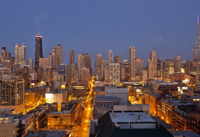 One bedroom with beautiful view - Chicago - Apartment