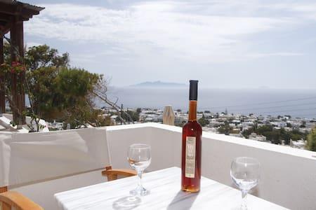 Panoramic Sea View - Double Bed 2 - Kamari - Bed & Breakfast