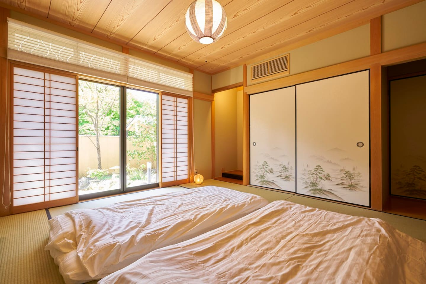 Garden view from the Japanese bedroom